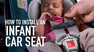 Infant car seat installation