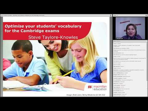 4.04.2018 - Optimising your students' vocabulary for the Cambridge exams