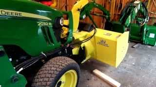 Installing 54' front mount John Deere Snowblower on John Deere 2032R