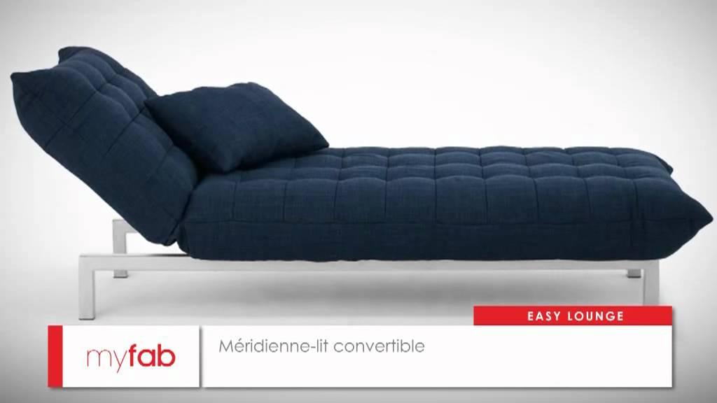 m ridienne lit easy lounge par myfab youtube. Black Bedroom Furniture Sets. Home Design Ideas