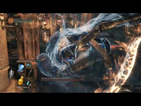Dark Souls 3 Dancer of Boreal Valley Boss Fight LVL 31 versus Sorcery EARLY GAME!