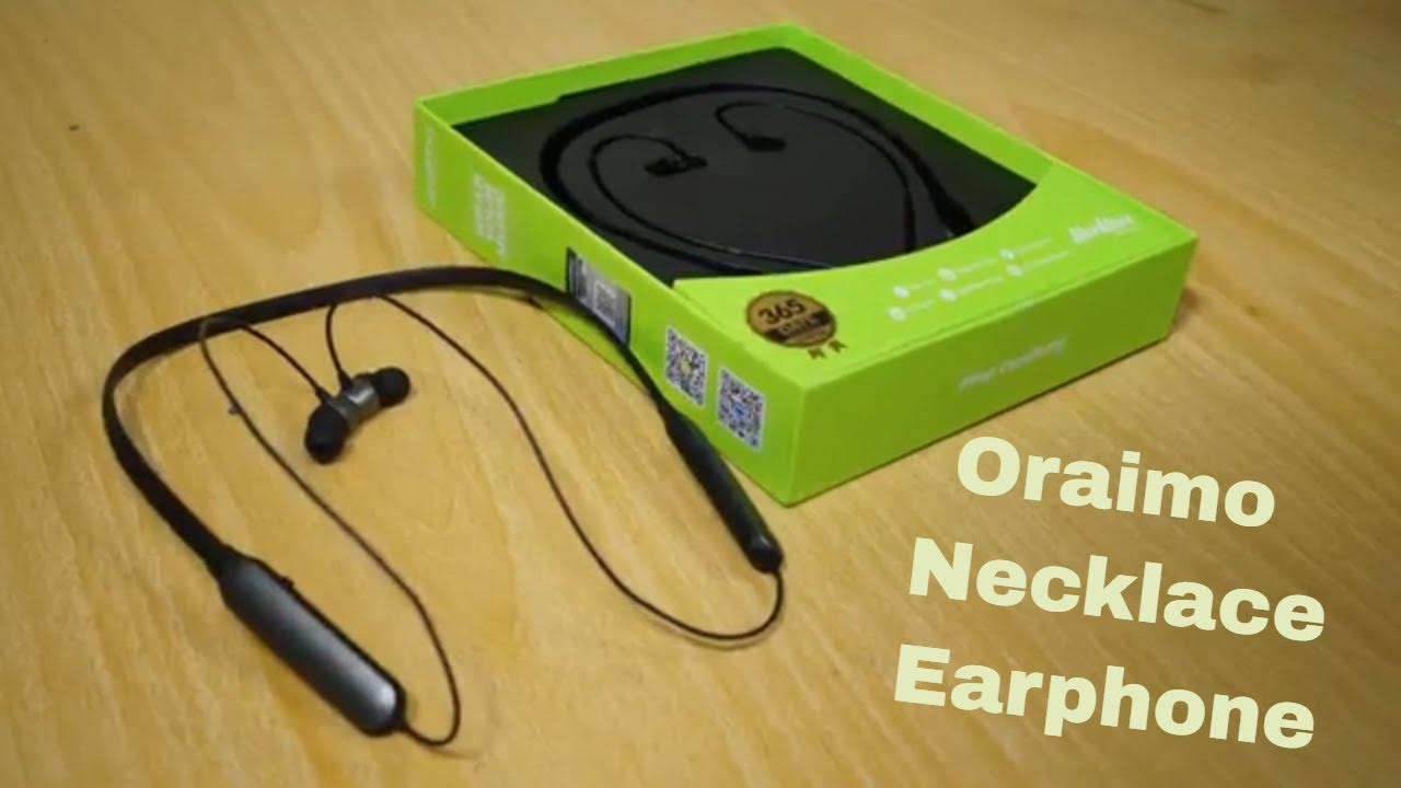3109f987e80 Oraimo earphone Necklace Earphone Unboxing and Review - GadgetStripe ...