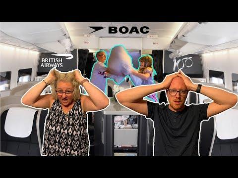 BRITISH AIRWAYS FIRST CLASS WITH 2 KIDS! BOAC Boeing 747!