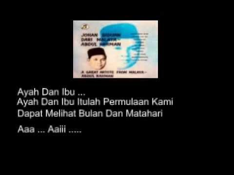 Ayah Dan Ibu Abdul Rahman Lirik YouTube