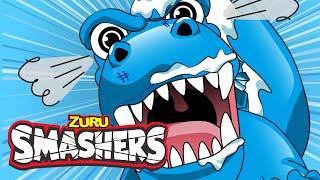 SMASHERS Dino Ice Age Episode Four!   SMASHERS!   Toys For Kids!