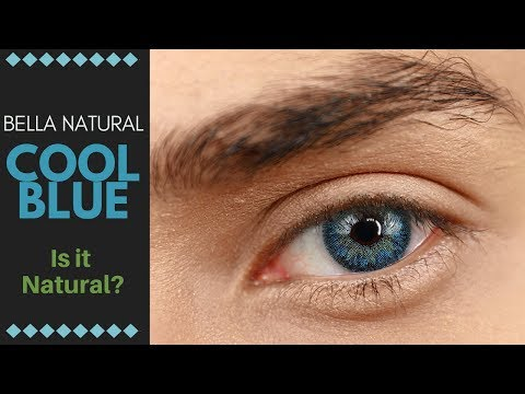 Bella Natural - Cool Blue Contact Lenses Review! - Are they a Natural Blue Contact lens?