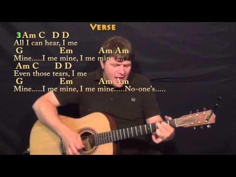 I Me Mine / Dig It (Beatles) Strum Guitar Cover Lesson with Chords/Lyrics