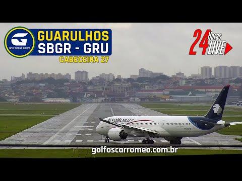 🔴 SBGR LIVE 27 - GRU AIRPORT - AEROPORTO INTERNACIONAL DE SÃO PAULO/GUARULHOS - CÂMERA 24H FULL ATC