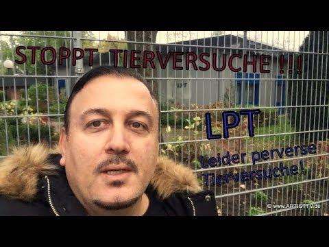 """Www.ArtistTV.de - REPORTER SZINA Vor Dem LPT """"Horror-Tierversuchslabor""""!"""