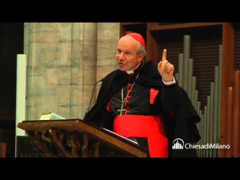 10 dicembre 2013 l'incontro del card. Christoph Schönborn con 1200 sacerdoti ambrosiani in Duomo