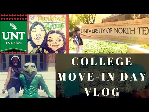College Move In Day Vlog | University of North Texas, UNT