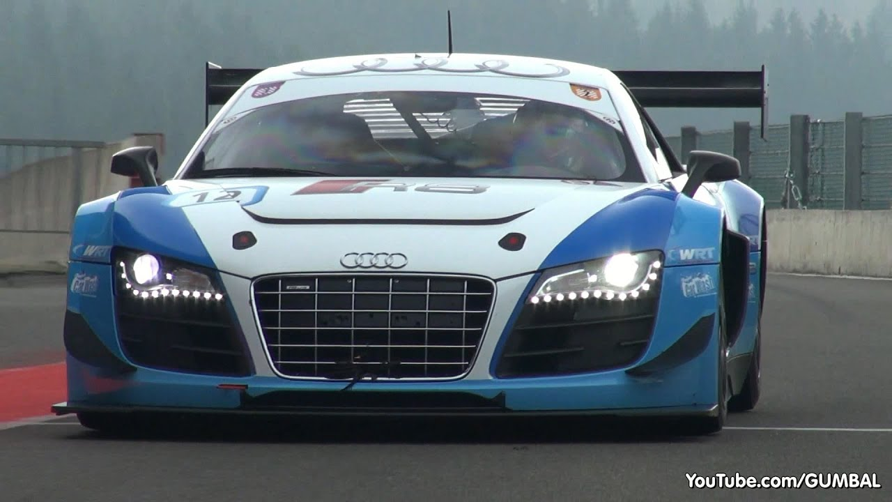 audi r8 lms ultra gt3 exhaust sounds on the track youtube. Black Bedroom Furniture Sets. Home Design Ideas