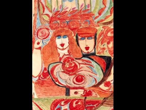 Aloïz CORBAZ-(Aloïse)-(1886-1964)-Artiste Peintre-Painter-Pittore-(ART BRUT SINGULIER VISCERAL)