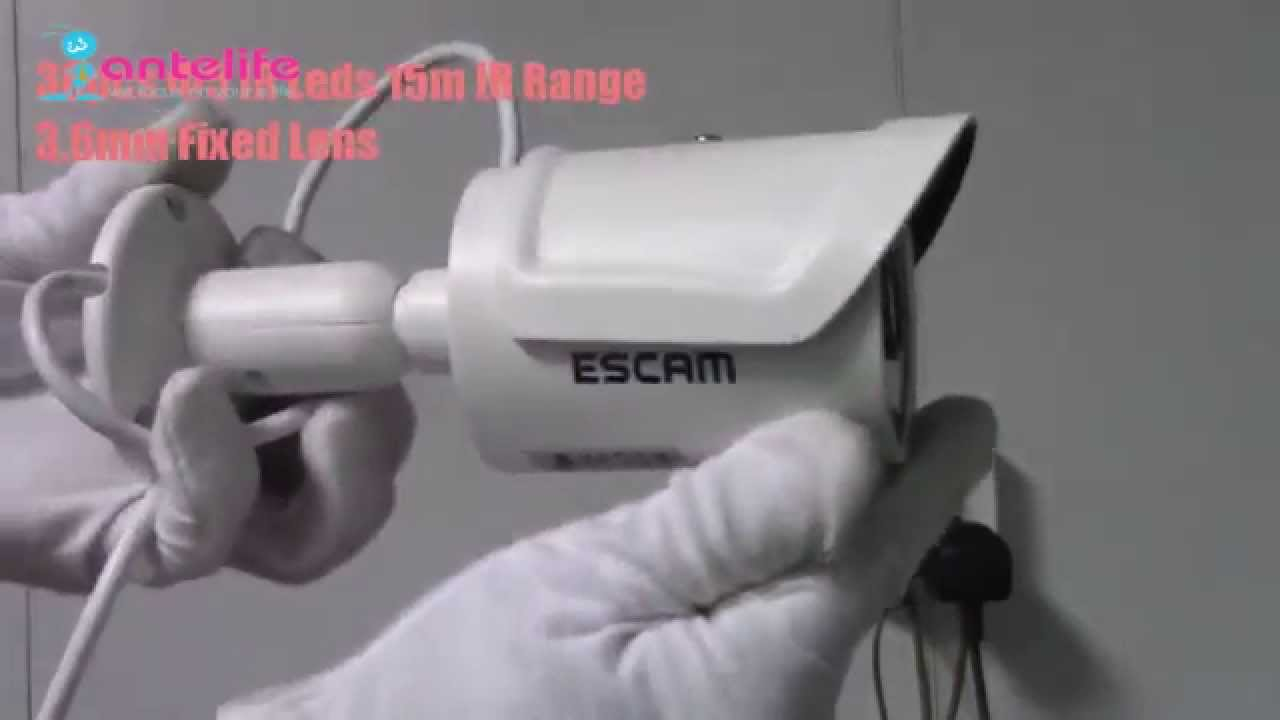 How to Install ESCAM QD320 720P HD Network IP Security Camera in
