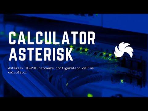 Asterisk IP-PBX hardware configuration online calculator