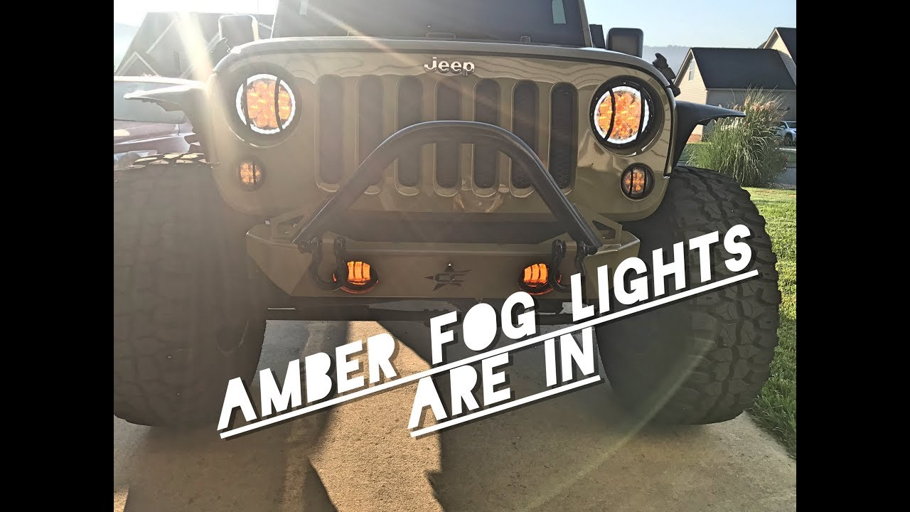 Xprite Amber Fog Light Install Full Review Jeep Jk Youtube Wrangler Lights
