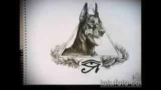 Фото тату доберман - рисунки нанесенных татуировок
