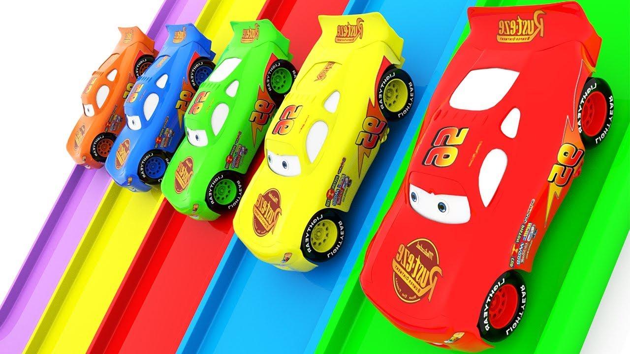 Изучите цвета с мужчиной-пауком и диснеем mcqueen для детей - автомобильное мультфильм для детей