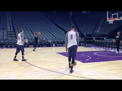 Kyle Korver participates in first shootaround with Cleveland Cavaliers