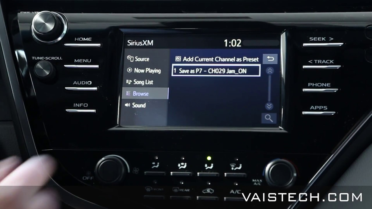 Vais Gsr Siriusxm Add On For Compatible 2018 Toyota Models Youtube