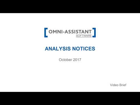 M13 - Analysis notifications - v.9.11.20 - Omni-Assistant Software