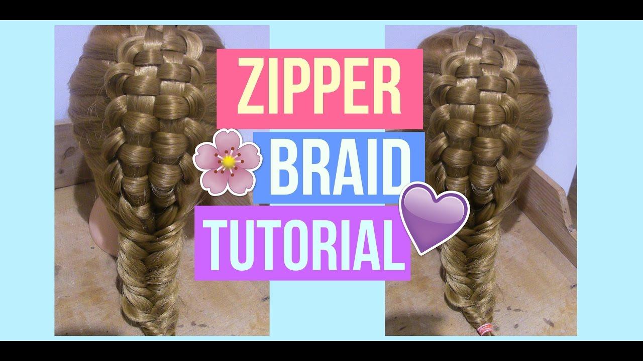 How To Do A Zipper Braid! Hair With Martha