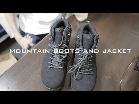 Columbiaのマウンテンブーツと普段使い撥水ジャケット / 旅行靴・防水ブーツ・登山シューズコロンビア