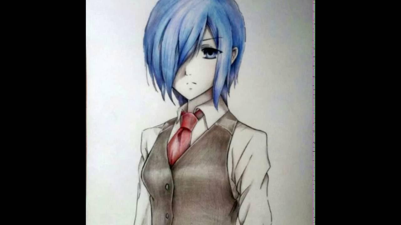Как нарисовать Киришиму Тоуку из аниме Токийский гуль ...