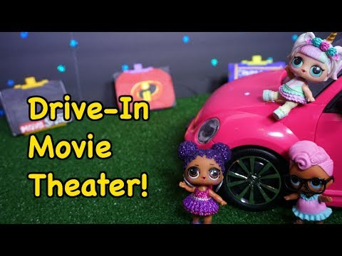 LOL SURPRISE DOLLS Go To The Drive In Movie Theater!