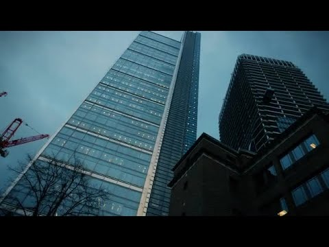 Financial District Buildings In London Stock Video