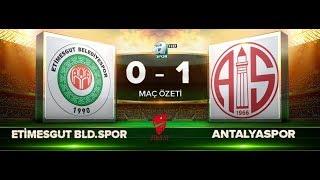 ETİMESGUT BELEDİYESPOR 0-1 ANTALYASPOR | MAÇ ÖZETİ HD | A SPOR | ZTK | 24.10.2017