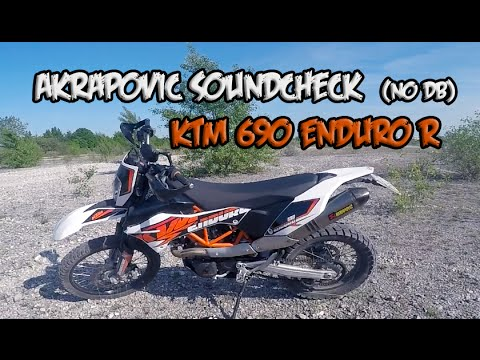 Ktm 690 Enduro R 2014 - Akrapovic Exhaust Sound Test - No DBKiller 2015