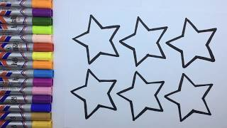 How to draw stars | Stars coloringpage | for children