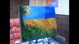 Уроки Живописи.Художник Макс Скоблинский. fast painting. lesson