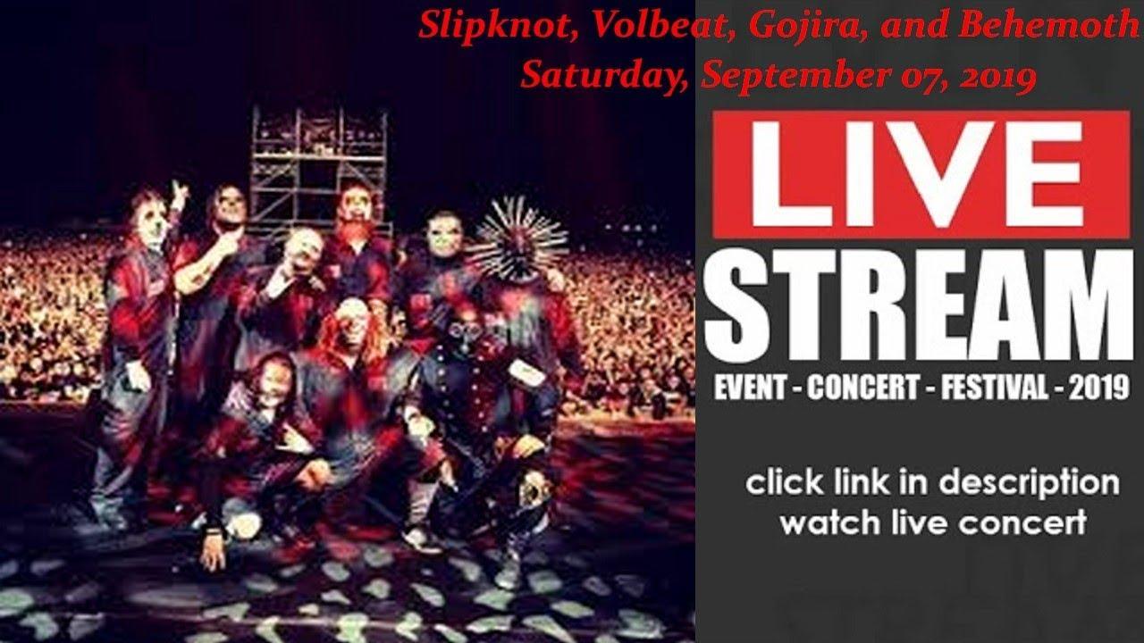 LIVESTREAM: Slipknot, Volbeat, Gojira, and Behemoth (LIVE) at Dallas TX US