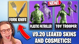 *ALL* Fortnite Update V9.20 LEAKS | Leaked SKINS + Cosmetics!! (Fork Knife, Toy Trooper)
