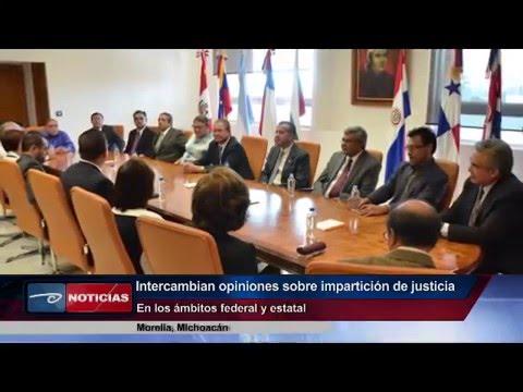 Intercambian opiniones sobre labor jurisdiccional. STJE y Tribunal Colegiado en Materia Penal