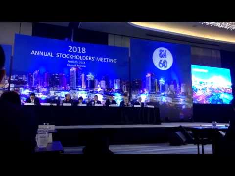 SM Investments Corp 2018 annual stockholders meeting