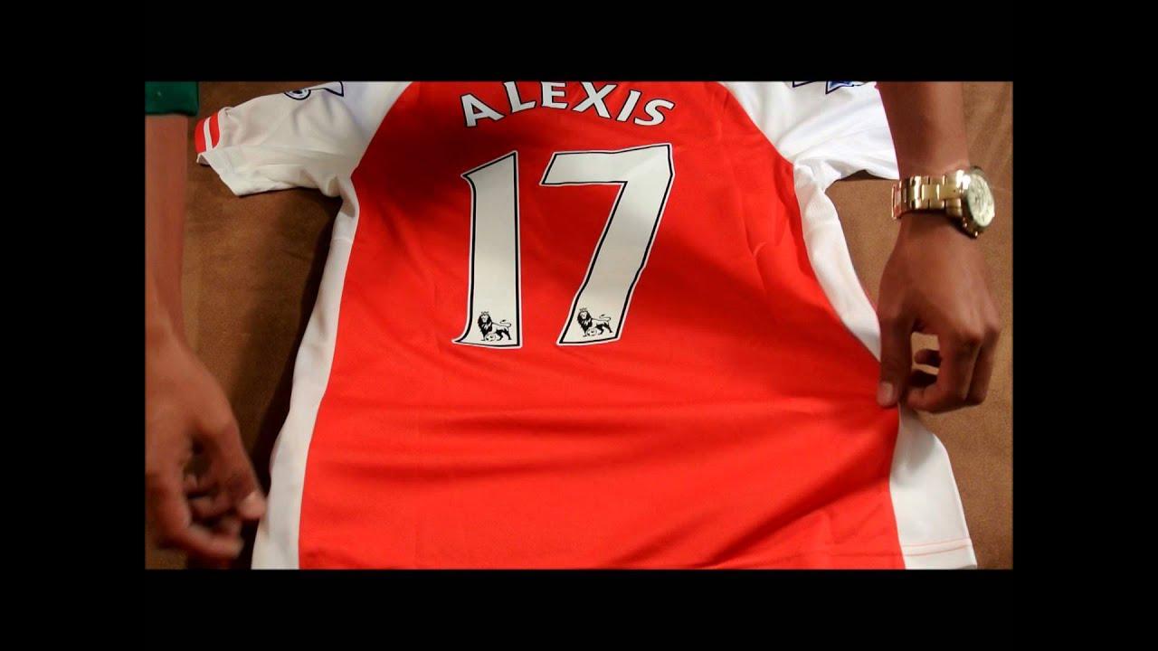 outlet store 3d45c b9cda Arsenal Home Alexis Sanchez Jersey 2014/2015 Unboxing