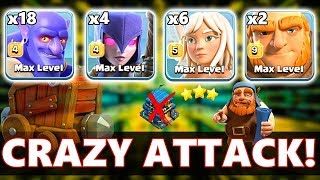 MAX TH12 GAMEPLAY  | Mass Bowlers Attack | Th12 War Attack Strategy 2018