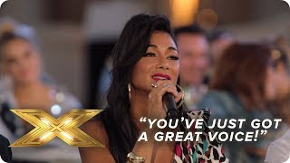 You've just got a great voice Judge's Reactions | X Factor: Celebrity
