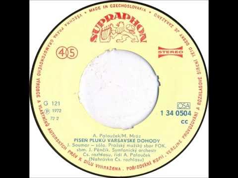 Jan Soumar & PMSSO FOK - Píseň pluků Varšavské dohody [1972 Vinyl Records 45rpm]