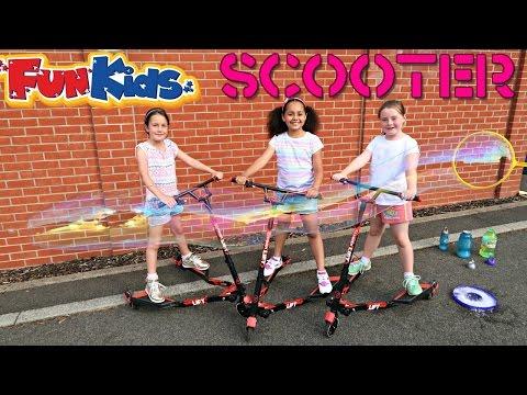 YFliker Lift Scooter vs Giant Gazillion Bubbles - Kids Fun Activity - Bubble Playtime Summer Fun