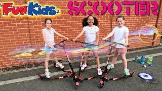 yfliker lift scooter vs giant gazillion bubbles kids fun activity bubble playtime summer fun