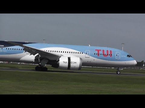TUI B787 DREAMLINER From GLASGOW Lands @ DONCASTER AIRPORT UK