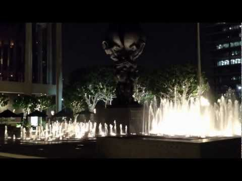 Fountain at Ahmanson and Dorothy Chandler