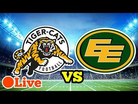 Hamilton Tigercats Vs Edmonton Eskimos CFL FIRST HALF