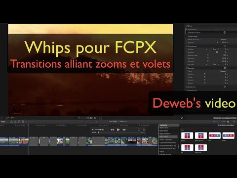 Transitions Ripple Whips pour FCPX