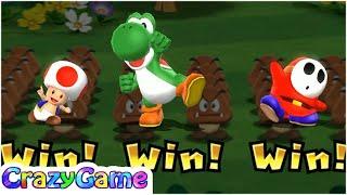 Mario Party 9 Step It Up - Toad vs Yoshi vs Shy GUy Master CPU Gameplay