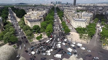 Arc de Triomphe - Timelapse of Worlds worst roundabout and traffic - Paris [4K]